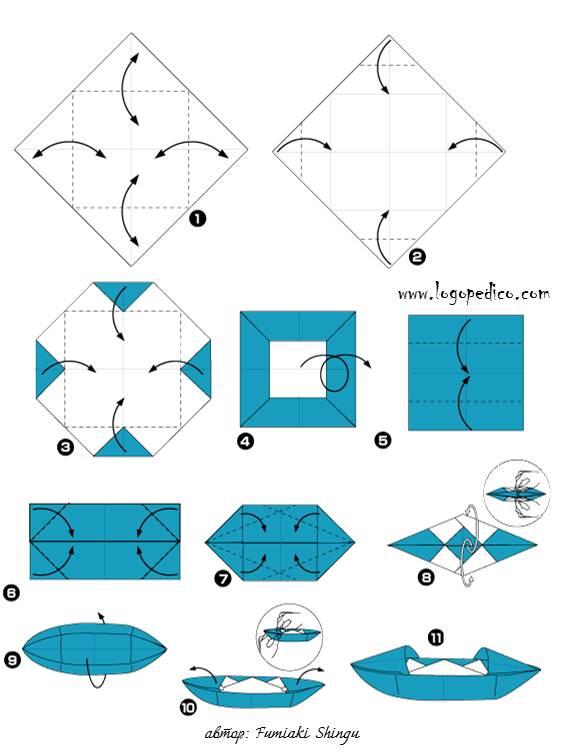 схема на фигури оригами