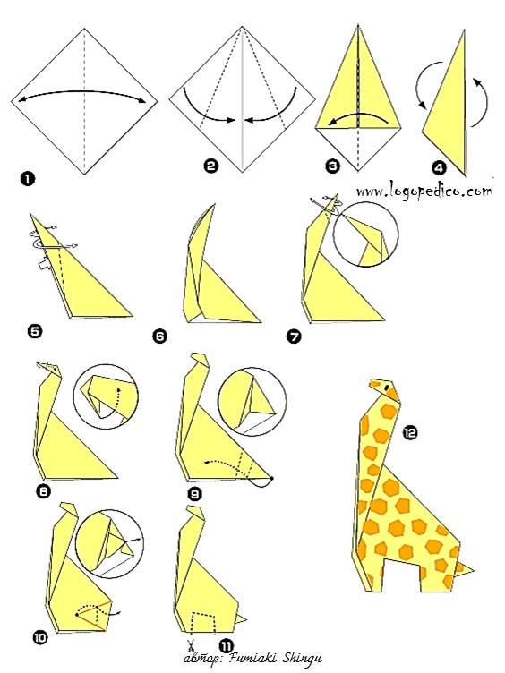 Оригами из бумаги своими руками животные схемы