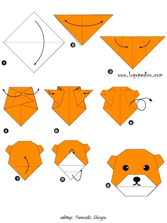 фигури оригами мечка