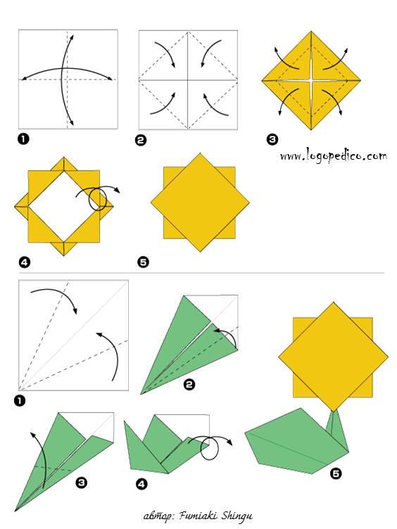 фигури оригами цвете