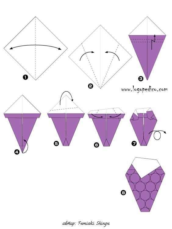 Оригами Для Детей Блузка