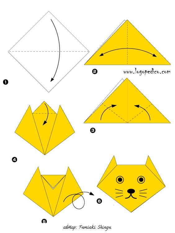 Поделки оригами из бумаги простые поделки