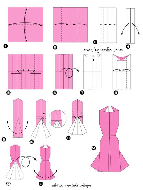 Как сделать платье из бумаги по