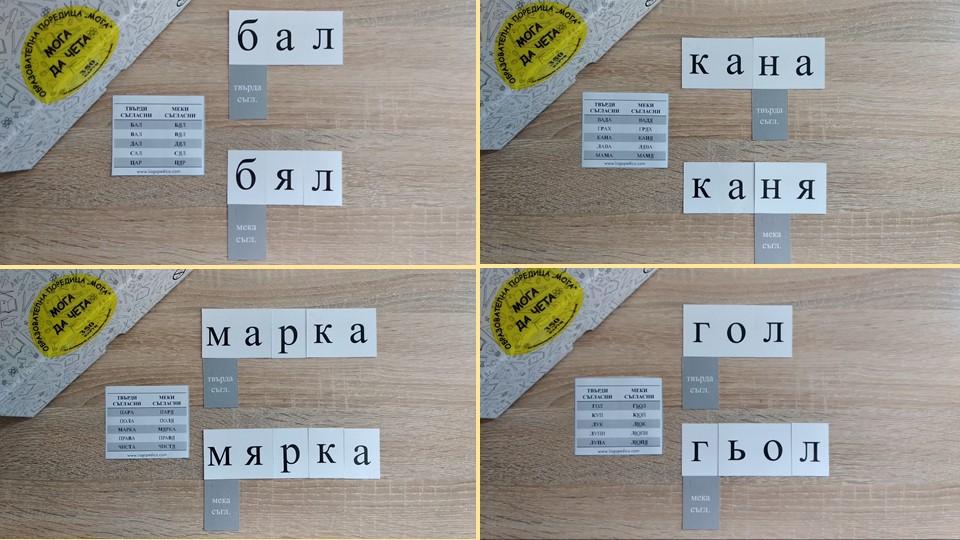 Логопедико - tvardi meki saglasni - образователни помагала, занимания и материали